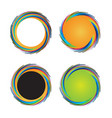 set of colorful circular waves vector image vector image