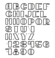set of letters and numbers vector image vector image