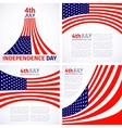 set stylish american independence day design vector image