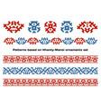 siberian folk ornaments set vector image vector image