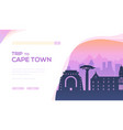 silhouette sightseeing attractions cape town vector image