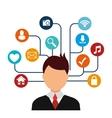 Social media entertainment graphic design vector image vector image