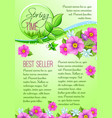 spring sale poster of pink flowers vector image vector image
