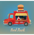 Street Food Concept with Burger Food Truck vector image