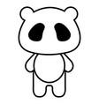 stuffed animal panda vector image vector image