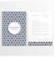 stylish letterhead design with abstract pattern vector image vector image