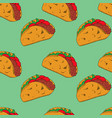 taco seamless pattern vector image vector image