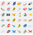 transport icons set isometric style vector image vector image