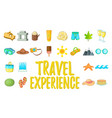 travel experience concept icons set cartoon style vector image