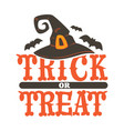 trick or treat halloween holidays celebration vector image vector image