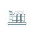 water pump station linear icon concept water pump vector image vector image