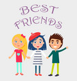 best friends celebrate holiday for children vector image
