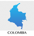 colombia map in south america continent design vector image
