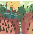 Cartoon Castle on a Hill vector image
