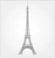 Thin line Eiffel tower icon vector image