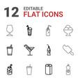 12 soft icons vector image vector image