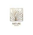 abstract tropic plant minimal logo vector image vector image