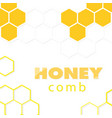 abstract white yellow honeycomb background vector image vector image