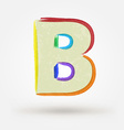Alphabet letter B Watercolor paint design element vector image vector image