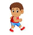 athlete running man vector image