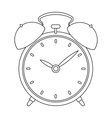 Bedside clock icon in outline style isolated on vector image vector image