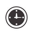 black clock symbol icon design vector image
