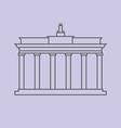 Brandenburg Gate Berlin vector image vector image