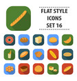 bread set icons in flat style big collection vector image vector image
