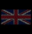 british flag pattern of star pentagram icons vector image vector image