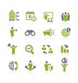 business opportunities icons natura series vector image vector image