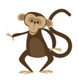 cartoon chimpanzee drawing vector image vector image