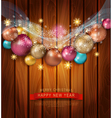 Christmas template with Christmas balls vector image