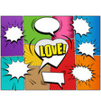 comic book page elements collection vector image vector image