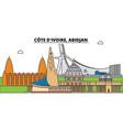 cote d ivoire abidjan city skyline architecture vector image