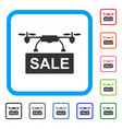 drone sale framed icon vector image vector image