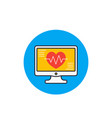 ecg electrocardiography heart diagnostic icon vector image