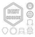 emblem and badge logo set vector image