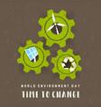 environment day card green energy concept vector image vector image