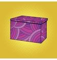 Festive Burgundy gift box vector image vector image