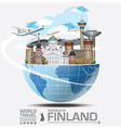 finland landmark global travel and journey vector image vector image
