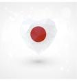 Flag of Japan in shape diamond glass heart vector image vector image