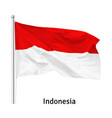 flag republic indonesia vector image vector image