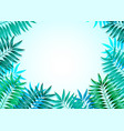 frame colorful tropical leaves concept vector image