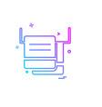furniture icon design vector image vector image