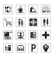 Gas station mall and motel icons set vector image vector image
