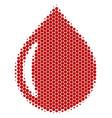 halftone dot drop icon vector image vector image