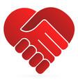 handshake symbol forming a heart vector image