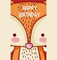 happy birthday to you fox cartoon vector image vector image