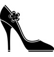 High heel shoes silhouette vector image vector image