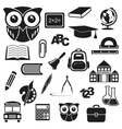 Icons education vector image vector image